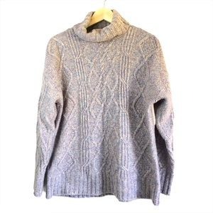 American Eagle cable knit turtleneck sweater